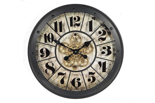<h4>Clock Gear Ø60cm Black</h4>