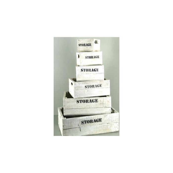 <h4>Box Storage Whitewash(set 6pc)</h4>