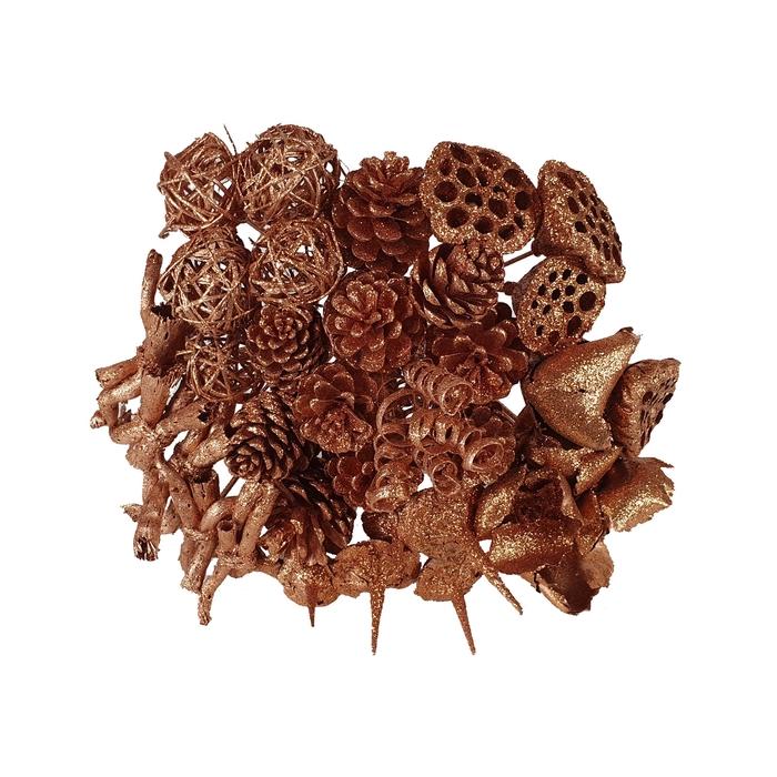 <h4>Bouquet mix 40stems per bq copper with glitter</h4>