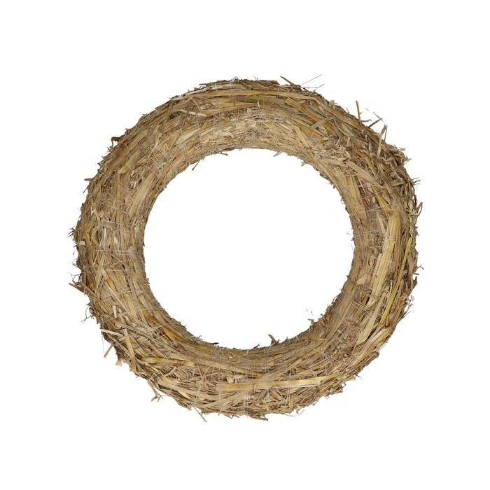 <h4>Wreath d25cm Straw</h4>