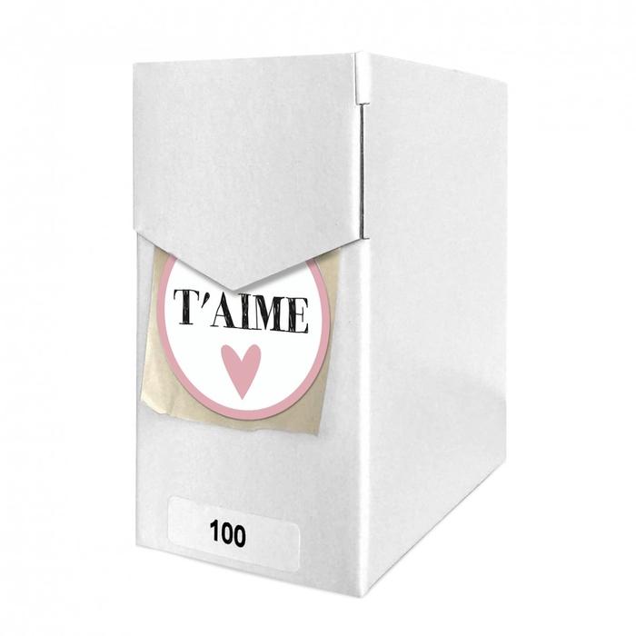 <h4>Valentijn Sticker 40mm x100 Je T'aime</h4>