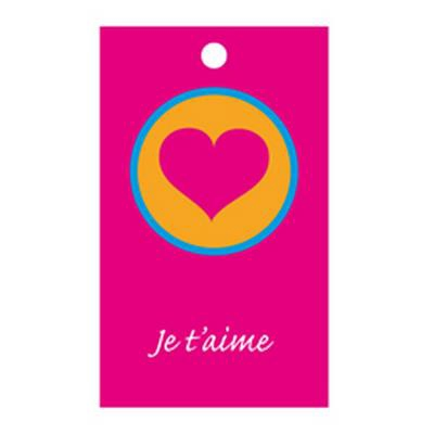 <h4>Flower cards  ma -Je t´aime- package  20 pieces</h4>