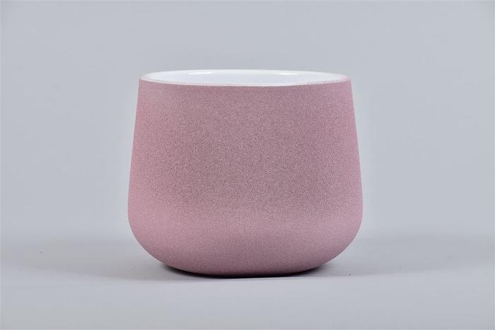 <h4>Berlijn Roze/wit Pot 13x11cm</h4>
