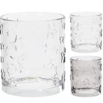 <h4>Candlelight Glass deco star d8*10cm ass</h4>