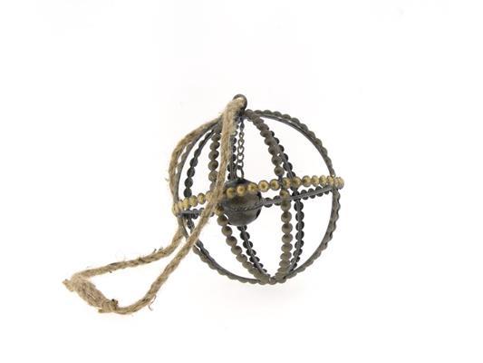 <h4>Ball Mtl+rope Ø13xh15 Ant.gold</h4>