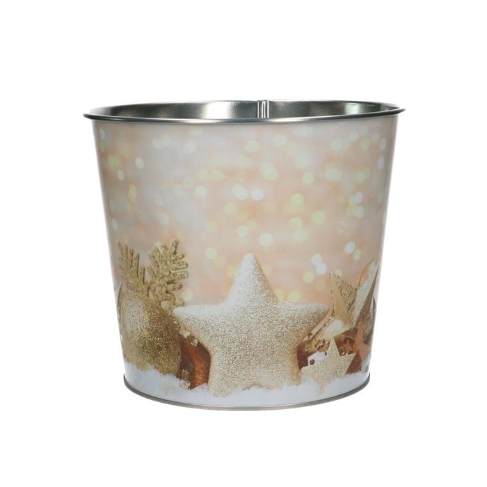 <h4>Christmas Pot Xmas glitter d16*14cm</h4>