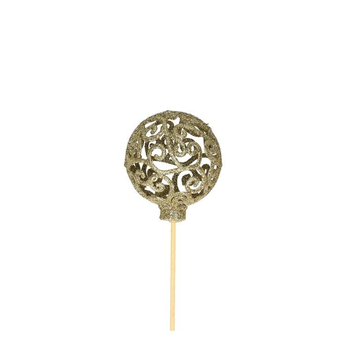 <h4>Christmas sticks 50cm Ball baroque 6cm</h4>