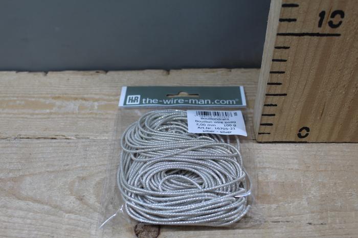 <h4>BOUILLON WIRE SWAG SILVER 2MM 100G 16705</h4>