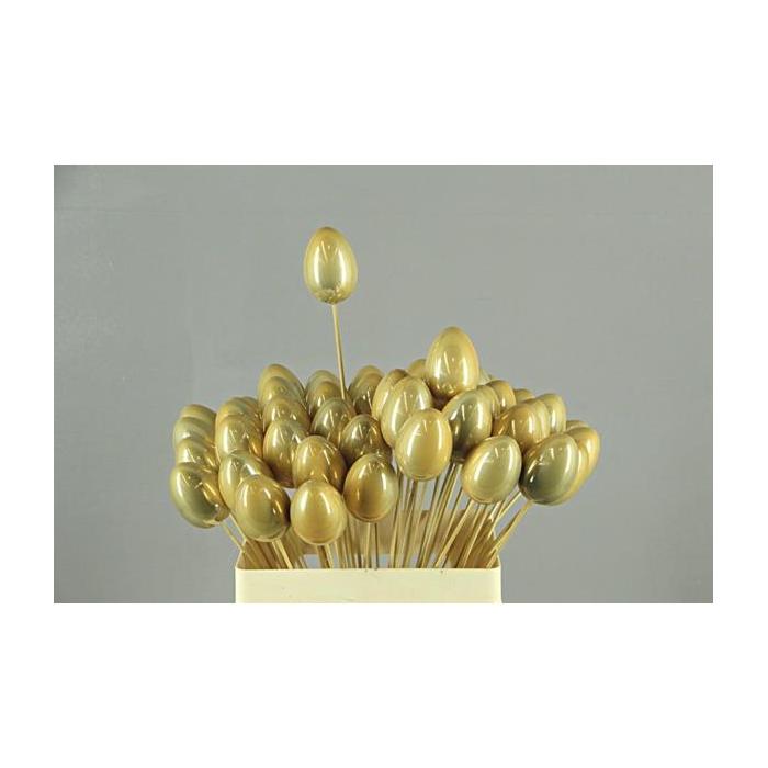 <h4>Stick Egg Pearl Gold 7cm</h4>