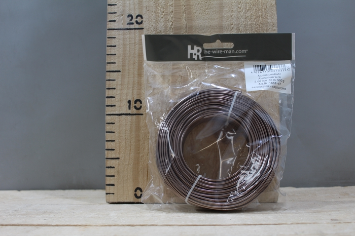 <h4>ALUMINUM WIRE CAPPUCCINO 2MM 60M 500G 1867-47</h4>