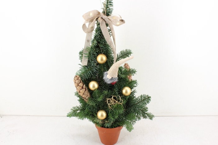 <h4>arr. VL - Kerstboom terra cotta pot goud</h4>