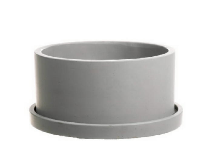 <h4>DF661981000 - Planter Bari1 d22xh11.5 grey</h4>