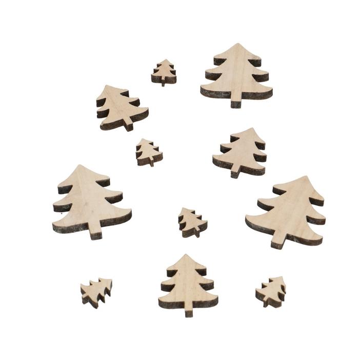 <h4>Kerst Hout boom d3-7cm x18</h4>