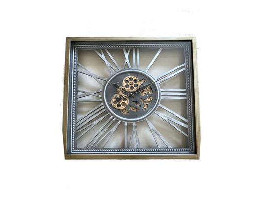 <h4>Clock Gear Open 53x53cm Silver</h4>