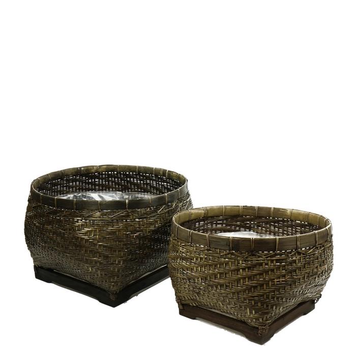 <h4>Baskets Rattan lombok S/2 d53*32cm</h4>