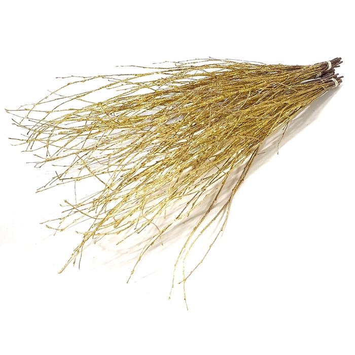 <h4>Birch 120cm 5stems per bunch Gold with Glitter</h4>