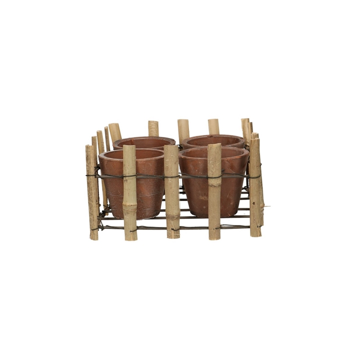 <h4>Sale Tray bamboo+4pot d20/20*10.5cm</h4>