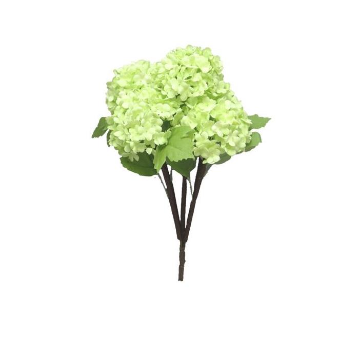 <h4>SILK FLOWERS - SNOWBALL BUSH X5 GREEN 30CM</h4>