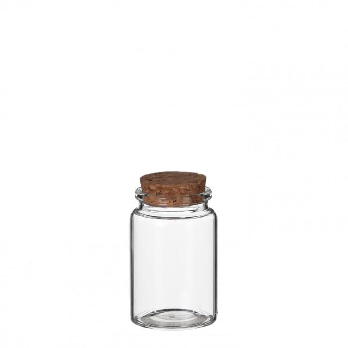 <h4>Glas Fles+kurk d4.5*7.5cm</h4>