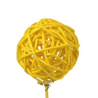 <h4>Bijsteker Bruce ball 5cm+12cm stok geel</h4>