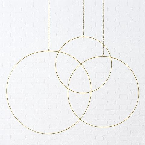 <h4>Decorative pendant Rumba, Round, D 50 cm, Iron, Gold Quantity in set: 1; iron gold</h4>