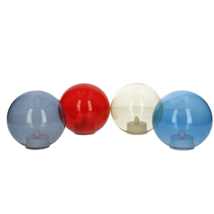 <h4>Christmas bauble LED 100mm assorti</h4>