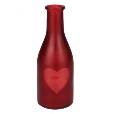 <h4>Vaas Moroni glas  D6,5xH18cm Love rood</h4>