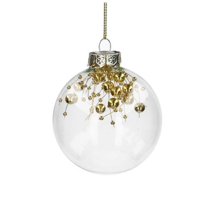<h4>Christmas bauble Ball deco gold 80mm</h4>