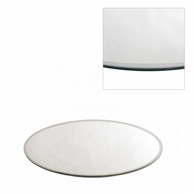 <h4>Glass colour Plate mirror round d30cm</h4>