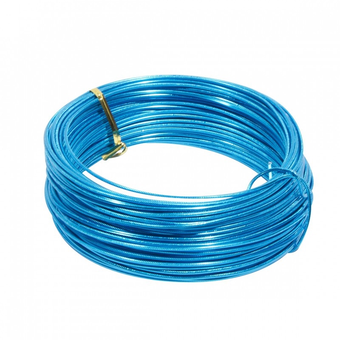 <h4>ALUMINIUM WIRE EMB 2MM*250GR TURQUOISE</h4>