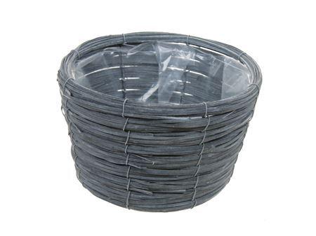 <h4>Basket Paia d21xh13 grey</h4>