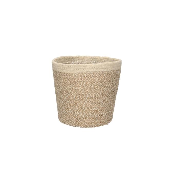 <h4>Baskets Pot hessian rim d18*16cm</h4>