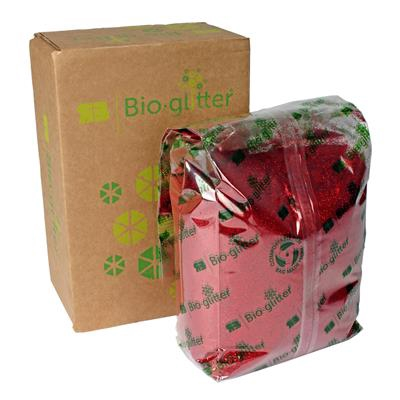 <h4>Bioglitter doos 1 KG Sparkle plus rood 015 Hex</h4>