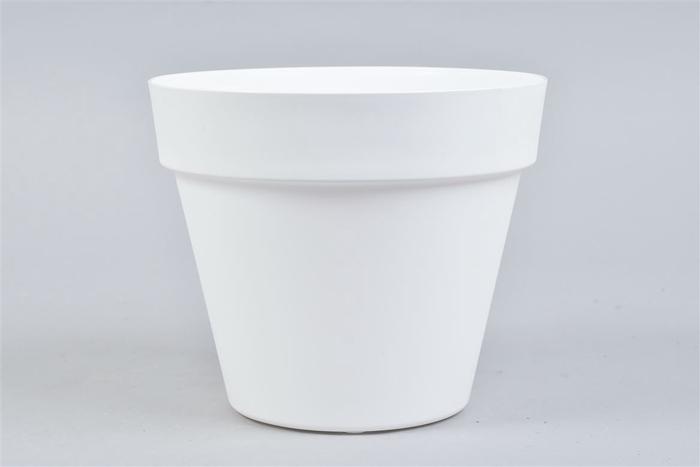 <h4>Kunststof Pot Wit 20x17cm</h4>