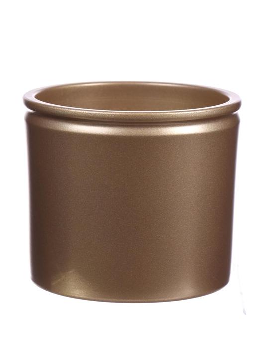 <h4>DF883619500 - Pot Lucca d14xh12.5 pearl gold metallic</h4>
