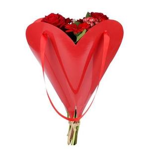 Bag Loving Heart carton 33xH35cmm red FSC