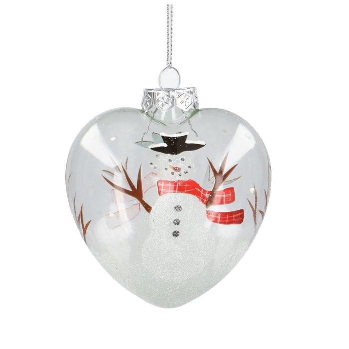 <h4>Christmas bauble Ball deco heart 100mm +</h4>