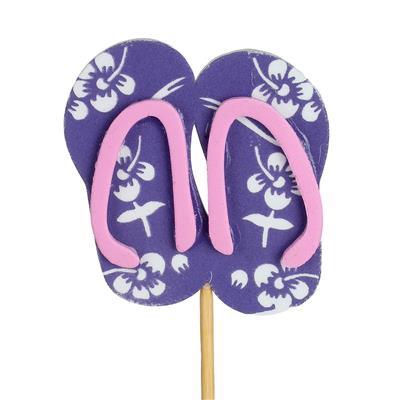 <h4>Pique tongs foam 7x6cm+12cm bâton violet</h4>
