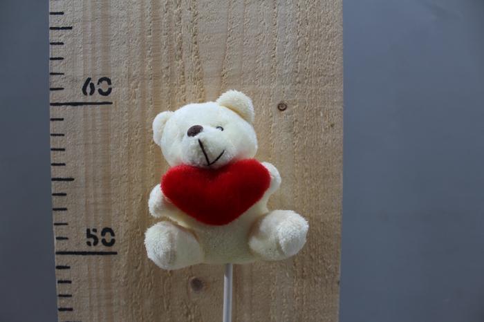 <h4>PLUSH BEAR WHIT HEART O/S H45 12PCS 260.5832</h4>