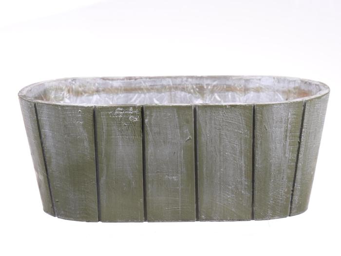 <h4>DF550090800 - Planter Arnelle 25.5x13.5 green wash</h4>