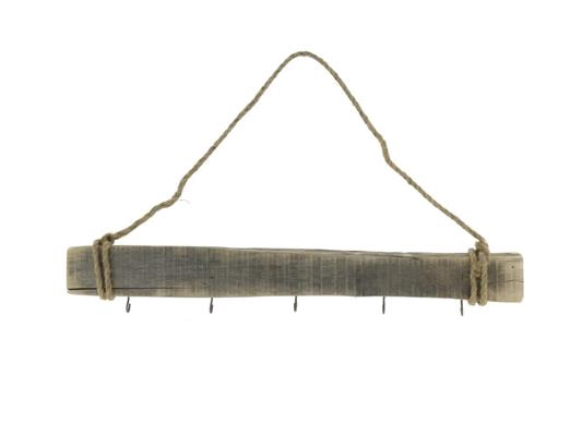 <h4>Rack Wood Hanging 5 Hooks 60cm</h4>