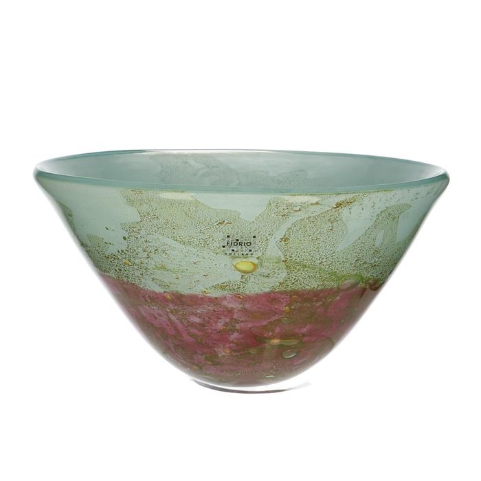 <h4>Glas Fidrio Mistique schaal d28*17cm</h4>