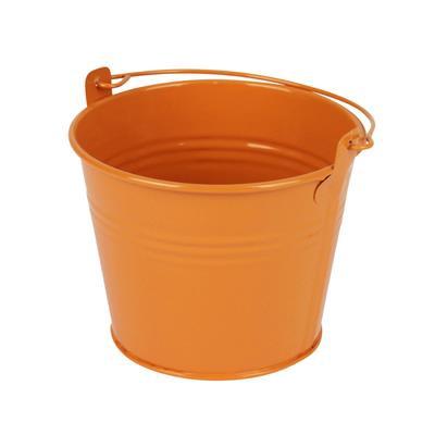 <h4>Bucket Sevilla zinc Ø11,7xH9cm ES10,5 orange gloss</h4>