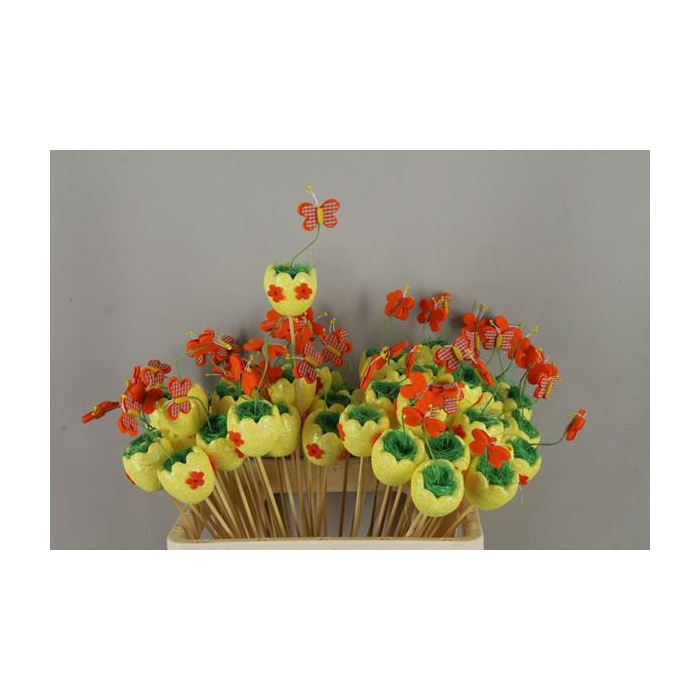 <h4>Stick Egg  Butterfly Yellow</h4>