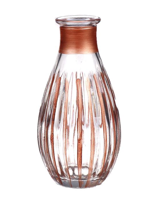 <h4>DF662807900 - Bottle Carola1 d7xh14 clear/soft bronze</h4>