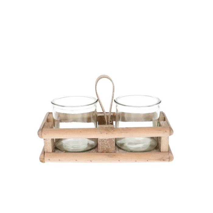 <h4>Glas Tray+2pot d08*8cm</h4>