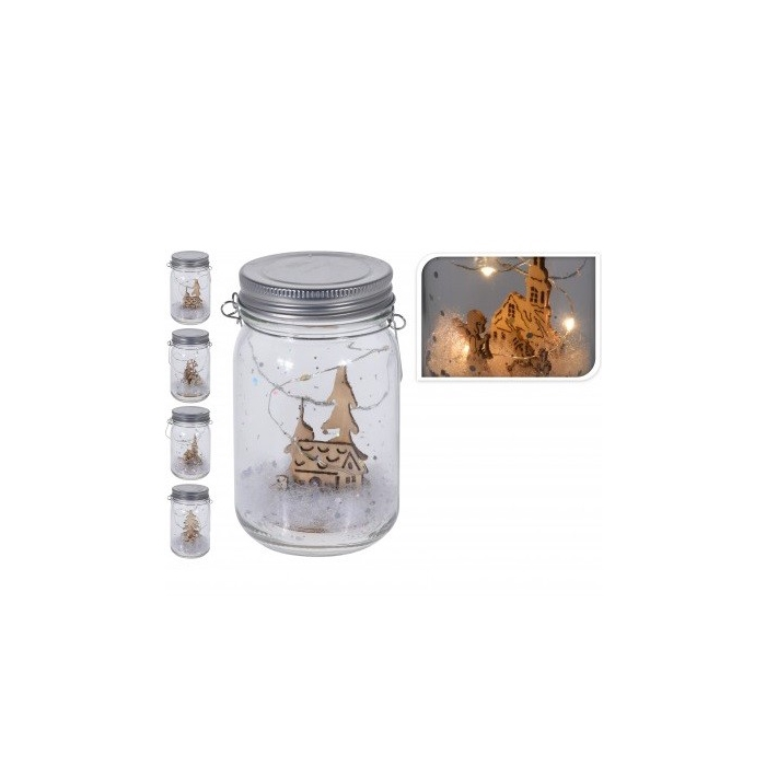 <h4>Christmas Glass+Led d9*13cm</h4>