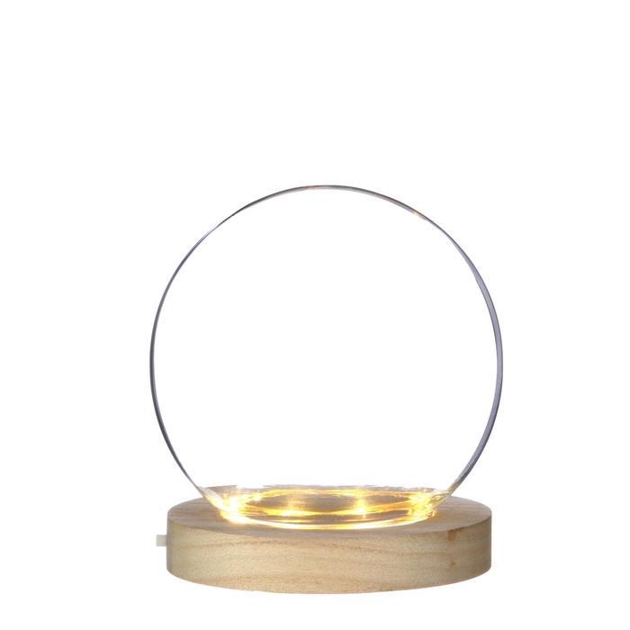 <h4>Glas Kogelvaas+voet LED d13*12cm</h4>
