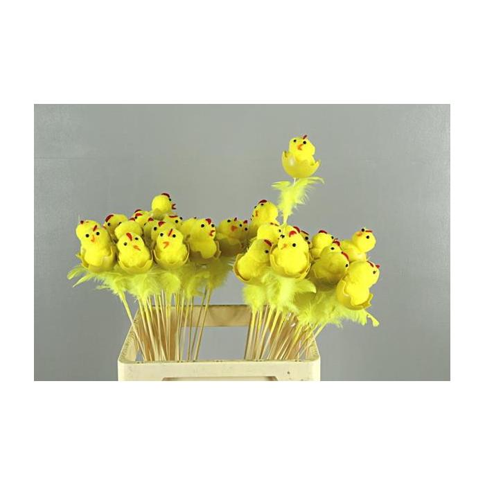<h4>Stick Chicken+egg+fthr Yellow</h4>