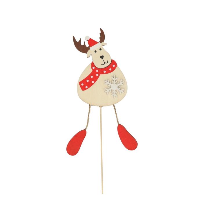 <h4>Christmas sticks 50cm Fun reindeer 10cm</h4>